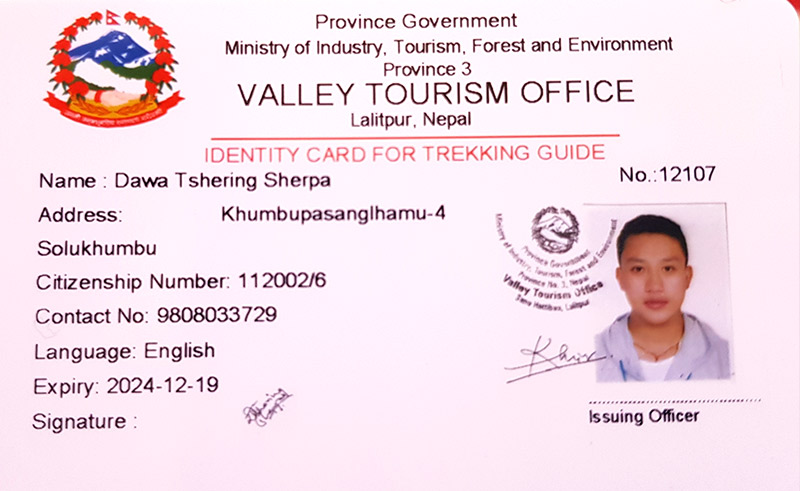 Trekking Guide License